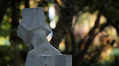 Graveyard Statue Stock Footage