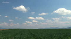 Landscape with clouds Stock Footage