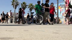 Boardwalk Time Lapse in Venice Beach, CA ( HD ) - stock footage