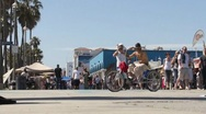 Stock Video Footage of Venice Beach Boardwalk ( HD )