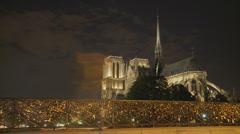 Paris bridge timelapse Stock Footage