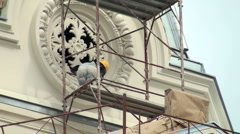 Work of monument Stock Footage