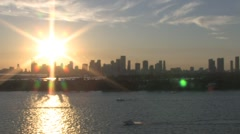 Sun above City of Miami ( HD ) Stock Footage