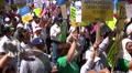 Overhead - Immigration march and rally Footage