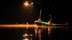 Cormorant fishing on the Li River in Yangshuo - 3 Stock Footage