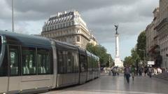 Bordeaux tram Stock Footage