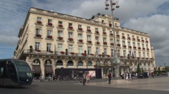 Facade of the Regent Grand Hotel in Bordeaux Stock Footage