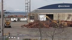 Log Loading 5 Stock Footage
