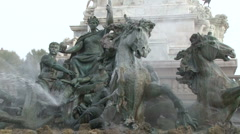 the fountain monument to the Girondins, in Bordeaux - stock footage