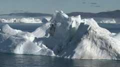 Large Icebergs off Ilulissat in Greenland - stock footage