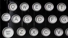 Typewriter tracking Stock Footage