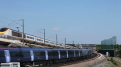 Eurostar and High Speed express train Stock Footage