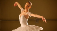 Ballerina dancing at stage Stock Footage