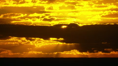 Sun Rays Shining Through Clouds - Sunrise Real Time Stock Footage