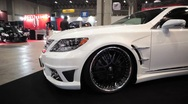 Stock Video Footage of White Car Customized Tokyo Auto Salon