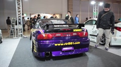 Stock Car at Tokyo Auto Salon Stock Footage