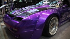Purple Speedster At Tokyo Auto Salon Stock Footage