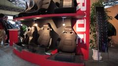 Custom Bucket Seats at Car Show Stock Footage