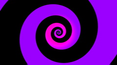 Spinning colorful hypnotic logarithmic spiral loop in HD - stock footage