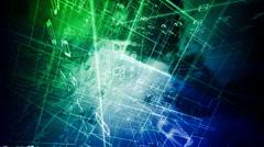 naturel digital network - stock footage