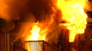 Stock Video Footage of House Fire