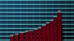 Business Charts and Financial Projections 3D - stock footage