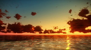 Tropical Sunrise Time Lapse Stock Footage