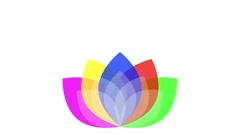 CMYK Logo against white - stock footage