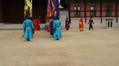 Korean Historical Recreation Performance in Seul 2 Stock Footage