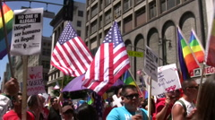 LGBT - Immigration march and rally Stock Footage