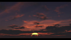 Sun Rising With Clouds Passing Overhead, Time Lapse - stock footage