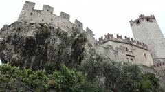 Castle in Malcesine, Italy Stock Footage