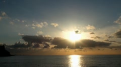 Beautiful Ocean Sunset 20110422 072200 Stock Footage