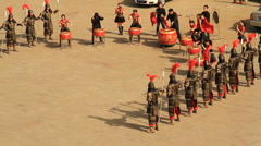 Musical Performers at the Xian city wall Stock Footage