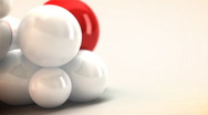White and Red spheres animated. Abstract background. Stock Footage