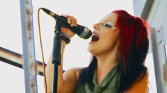 Emotional soloist Stock Footage