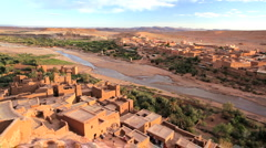 Local Village in Dades Valley, Dades Gorge nr Ouarzazate, Morocco, Africa Stock Footage