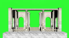 Mediterranean architecture Green Screen Stock Footage