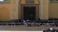 Id Kah Mosque exterior during Jumu'ah, Kashgar - 7 Stock Footage