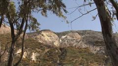 Vulcano erosion on mountain Stock Footage