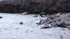 Superior Water Rocks wide - stock footage