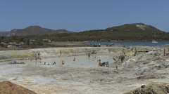 Vulcano mud bath Stock Footage