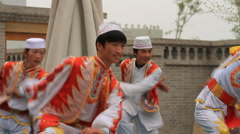 Dancers at Mosque - stock footage