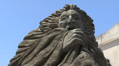 Vulcano god of winds statue 2 Stock Footage