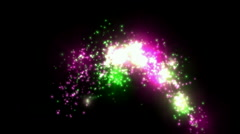Abstract firework energy particle,shine holiday wedding explosion background. Stock Footage