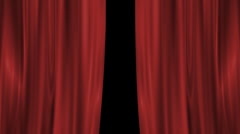 Opening main curtain Stock Footage