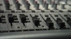 1080P Dusty Mixer Faders and Knobs - Dolly Shot Stock Footage