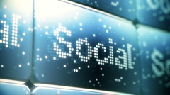 Social Network Screen Animation HD Stock Footage