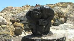 Vulcano Vulcan statue Stock Footage