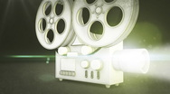 Stock Video Footage of Stylized Film Projector